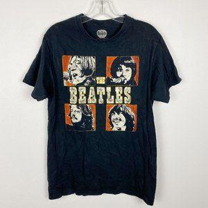 Beatles Graphic Black Short Sleeve Band Tee M
